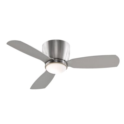 44 Embrace 3 Blade Ceiling Fan Finish: Brushed Nickel