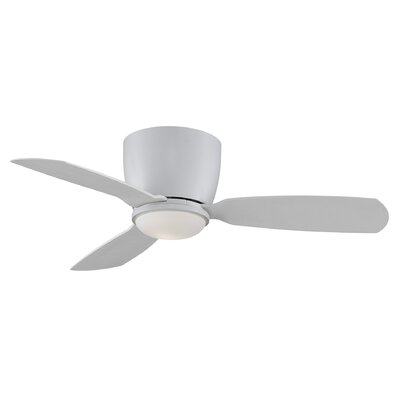 44 Embrace 3 Blade Ceiling Fan Finish: Matte White
