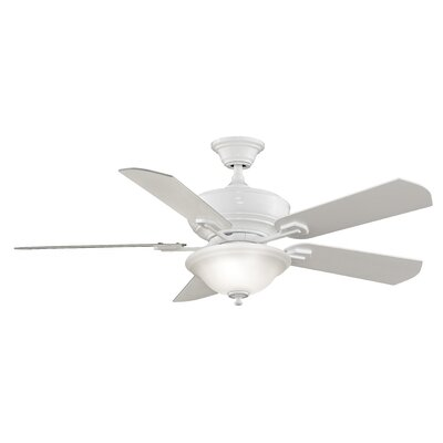 52 Camhaven 5-Blade Ceiling Fan Fan Finish with Blade Finish: White With White Blades