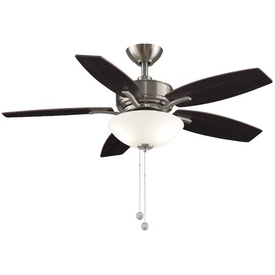 44 Aire Deluxe 5 Blade Ceiling Fan Finish: Brushed Nickel