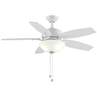 44 Aire Deluxe 5 Blade Ceiling Fan Finish: Matte White