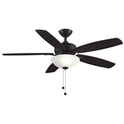 52 Aire Deluxe 5 Blade Ceiling Fan Finish: Dark Bronze