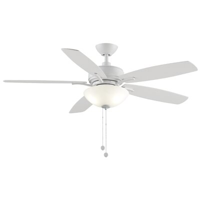 52 Aire Deluxe 5 Blade Ceiling Fan Finish: Matte White