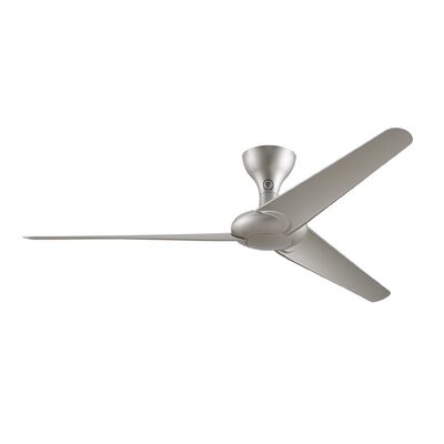 60 Drone 3 Blade Outdoor Ceiling Fan with Remote Finish: Silver