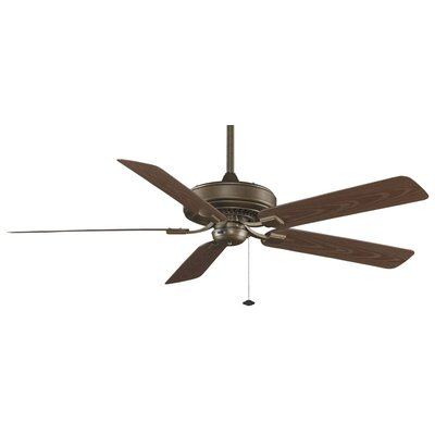 60 Edgewood Deluxe 5 Blade Outdoor Ceiling Fan Finish: Aged Bronze