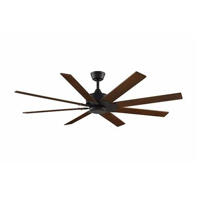 63 Levon 8 Blade Ceiling Fan Fan Finish with Blade Finish: Dark Bronze With Walnut Blades