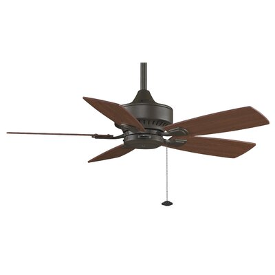 42 Cancun 5 Blade Ceiling Fan Finish: Oil Rubbed Bronze with CherrywithWalnut Blades