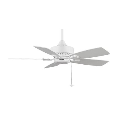 42 Cancun 5 Blade Ceiling Fan Finish: White with White Glass Blades