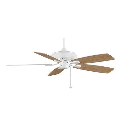 52 Edgewood 5-Blade Ceiling Fan Finish: White with White / White Oak Blades