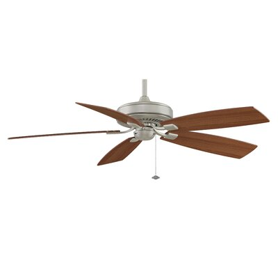 60 Edgewood 5-Blade Ceiling Fan Finish: Satin Nickel with Walnut/Light Walnut Blades