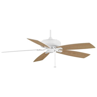 60 Edgewood 5-Blade Ceiling Fan Finish: White with White/White Oak Blades