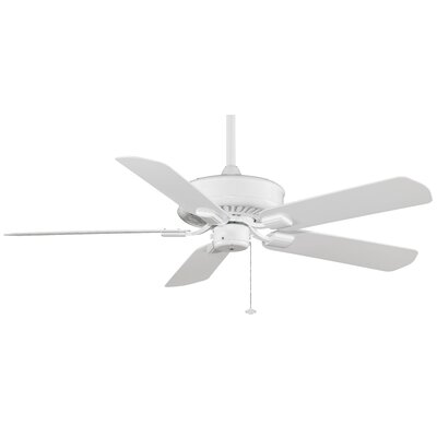 50 Edgewood 5-Blade Ceiling Fan Finish: White with White Glass Blades