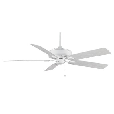 60 Edgewood Deluxe 5 Blade Outdoor Ceiling Fan Finish: White