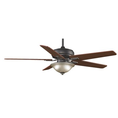 """60"""" Keistone 5 Blade Ceiling Fan with Remote Finish: Bronze Accent FPD8088BA"""