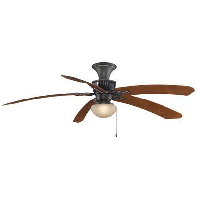 68 Louvre 5-Blade Ceiling Fan with Remote (Blades Not Included) Finish: Bronze Accent