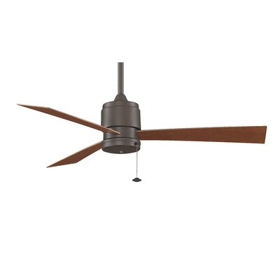 52 Zonix 3-Blade Ceiling Fan Finish: Black with Black Blades