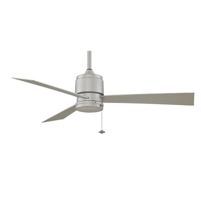 52 Zonix 3-Blade Ceiling Fan Finish: Satin Nickel with Satin Nickel Blades