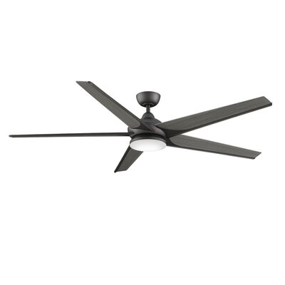 72 Subtle Weathered Wood 5 Blade Ceiling Fan with Remote