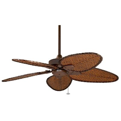 52 Windpointe 5-Blade Ceiling Fan Finish: Rust with Bamboo Blades