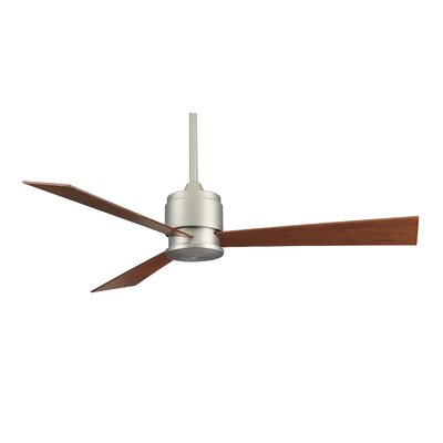 54 Zonix 3-Blade Ceiling Fan Finish: Satin Nickel with Cherry / Walnut Blades