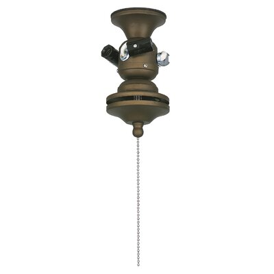 3-Light Ceiling Fan Light Fitter For Damp Locations Finish: Bronze