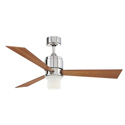 54 Zonix 3-Blade Ceiling Fan Finish: Polished Nickel with Cherry / Walnut Blades
