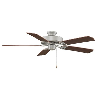 52 Builder Standard 5-Blade Ceiling Fan Finish: Satin Nickel