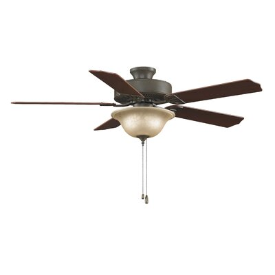52 Builder Bowl 5-Blade Ceiling Fan Finish: Oil Rubbed Bronze