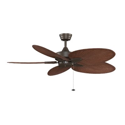 52 Windpointe 5-Blade Ceiling Fan Fan Finish with Blade Finish: Oil-Rubbed Bronze With Brow / Red Blades