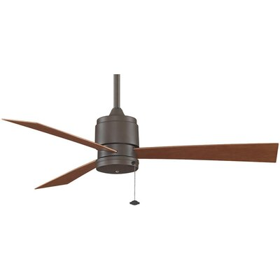 52 Zonix 3-Blade Ceiling Fan Fan Finish with Blade Finish: Oil-Rubbed Bronze With Cherry  Blades