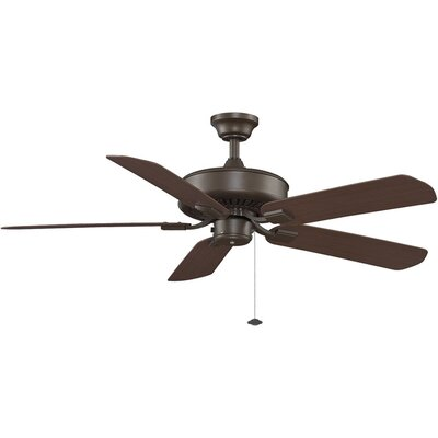 50 Edgewood 5-Blade Ceiling Fan Fan Finish with Blade Finish: Oil-Rubbed Bronze With Dark Cherry Blades