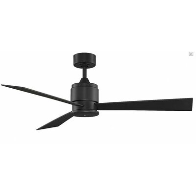 54 Zonix 3-Blade Ceiling Fan Finish: Black with Black Blades