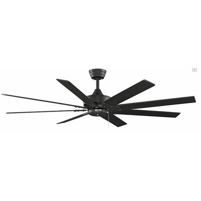 63 Levon 8 Blade Ceiling Fan Fan Finish with Blade Finish: Black With Black Blades
