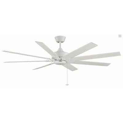 63 Levon 8 Blade LED Ceiling Fan Fan Finish with Blade Finish: Matte White With Matte White Blades