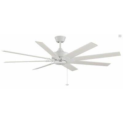 63 Levon 8 Blade LED Ceiling Fan Fan Finish with Blade Finish: Matte White With Matte White Blades