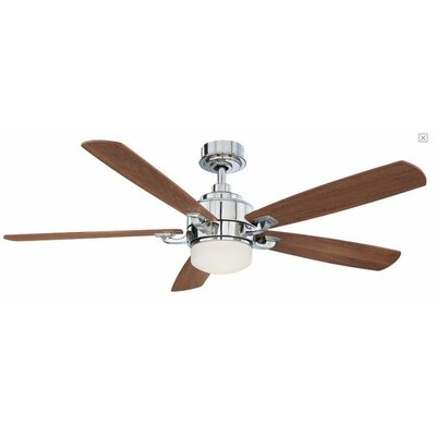 8 Benito 5-Blade Ceiling Fan with Remote Finish: Brushed Nickel