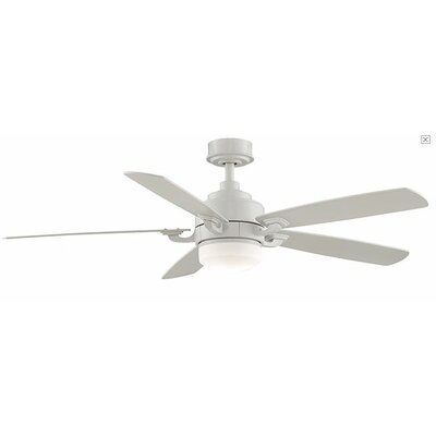 8 Benito 5-Blade Ceiling Fan with Remote Finish: White
