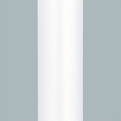 Matte White Downrod Length: 12, Diameter: .5
