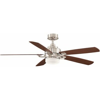52 Benito 5 Blade LED Ceiling Fan with Remote Finish: Brushed Nickel