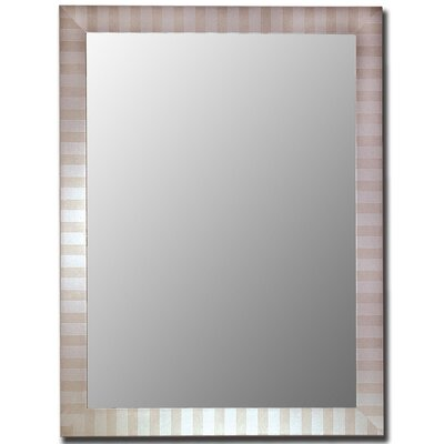 "Hitchcock Butterfield Company Parma Silver Framed Wall Mirror - Size: 24"" H x 60"" W at Sears.com"