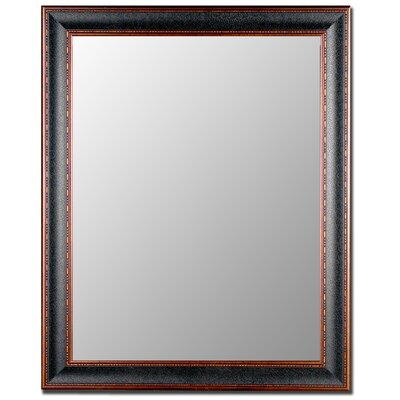 Textured Black & Copper Wall Mirror 202000