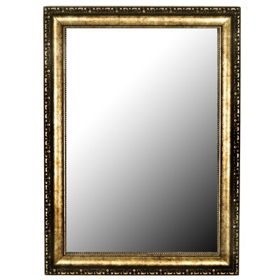 Silver-Aged Gold Framed Accent Wall Mirror Size: 37