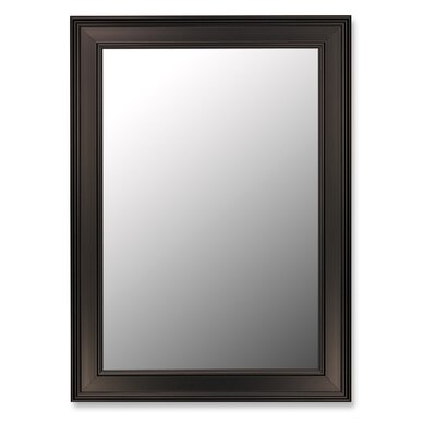 "Ceylon Black Wall Mirror Size: 46"" H x 36"" W 331603"