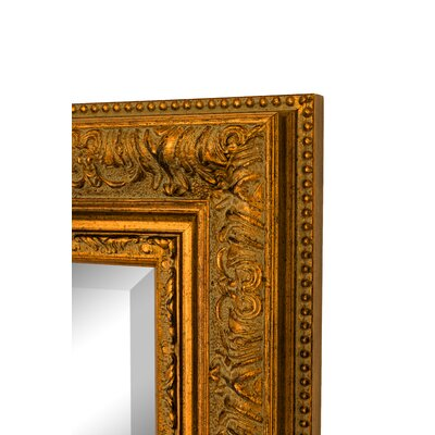 """Milano Gold Wall Mirror Size: 46.5""""H x 36.5""""W x 2""""D, Bevel: Yes 100903"""