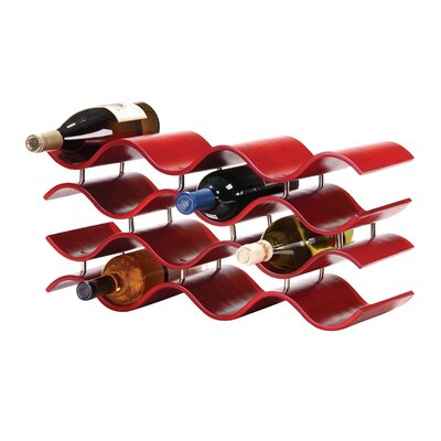 Bellas 12 Bottle Countertop Wine Bottle Rack Finish: Crimson