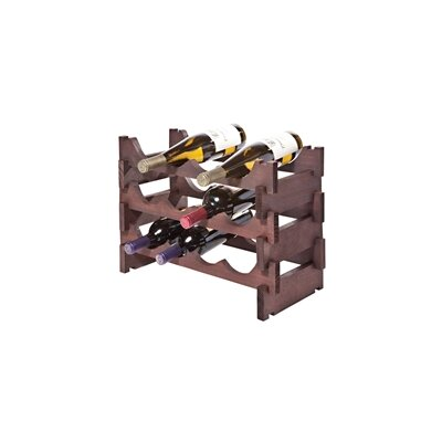 12 Bottle Floor Wine Bottle Rack Finish: Mahogany