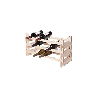 18 Bottle Floor Wine Bottle Rack Finish: Natural