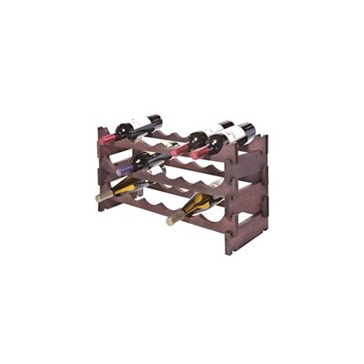 18 Bottle Floor Wine Bottle Rack Finish: Mahogany
