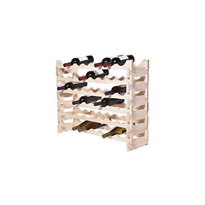 48 Bottle Floor Wine Bottle Rack Finish: Natural