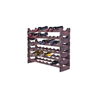 48 Bottle Floor Wine Bottle Rack Finish: Mahogany